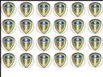 24 Leeds United Football Club Edible Wafer Rice Cup Cake Toppers Utd Fc
